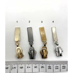 Spynelės, skirtos metaliniam užtrauktukui