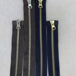 Metaliniai 75cm ilgio užtrauktukai