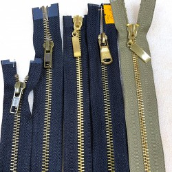 Metaliniai 1m ilgio užtrauktukai